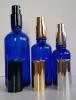 Сини стъклени шишенца (флакони) с лосионна помпи