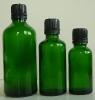 Зелени шишенца с капачки
