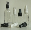 Прозрачни шишенца / флакони с лосионни помпи