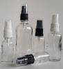 Прозрачни шишенца / флакони със спрей помпи