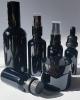 Черни стъклени шишенца - черна комбинация