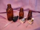 Стъклени шишенца за етерични масла с капкомер